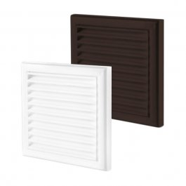 PVC Ventilation Grille with Insect Screen (MV-series)