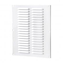 Metall Lüftungsgittter Weiß mit Insektengitter (MVMPO-Serie)