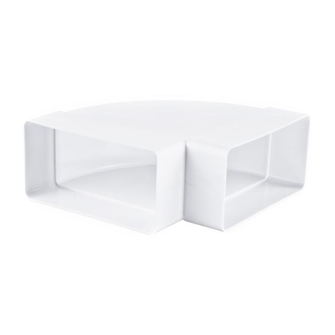PVC Flachkanal Bogen 90° Horizontal