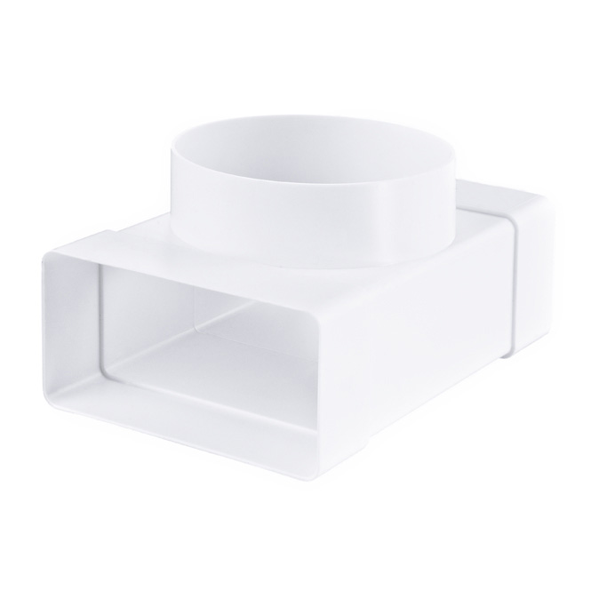 PVC Flachkanal-Rundrohr T-Stück