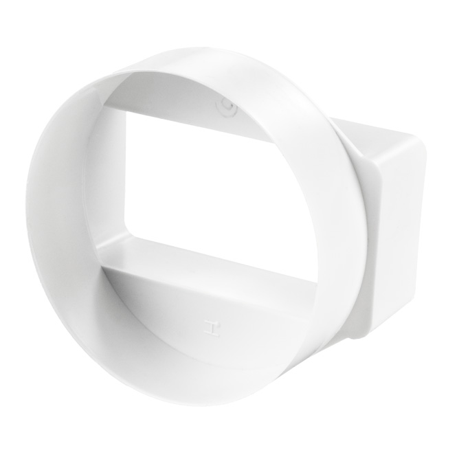 PVC Flat-to-Rond Duct Connector short