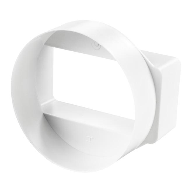 PVC Flachkanal-Rundrohr Verbindung kurz