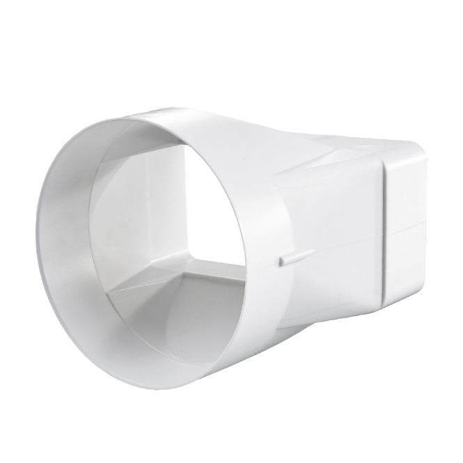 PVC Flat-to-Rond Duct Connector
