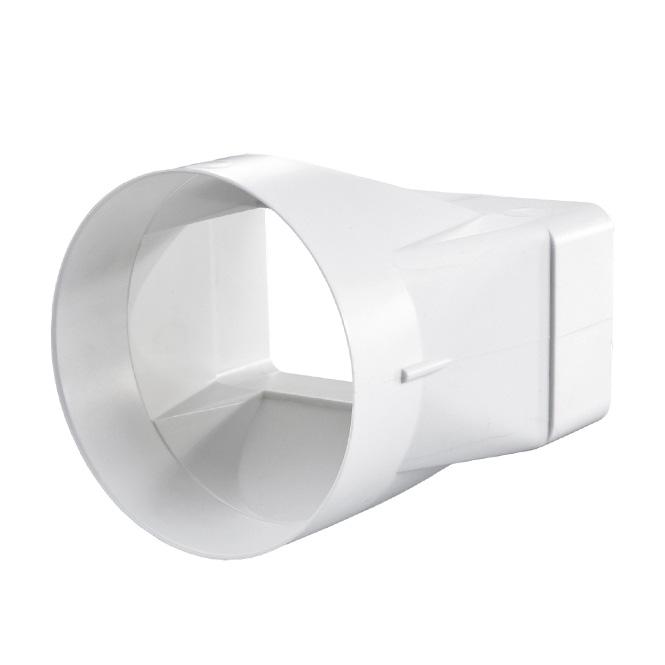 PVC Flachkanal-Rundrohr Verbindung