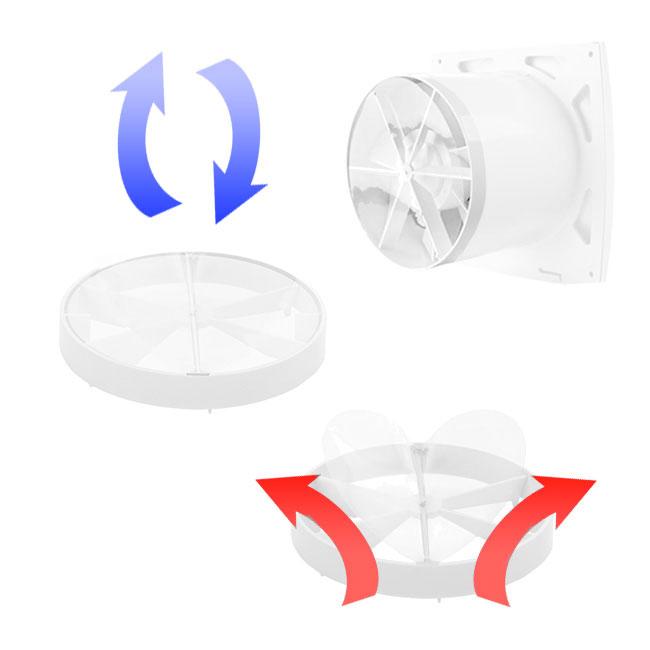 Folien-Rückschlagklappe für Kleinraumventilatoren (KO-Serie)