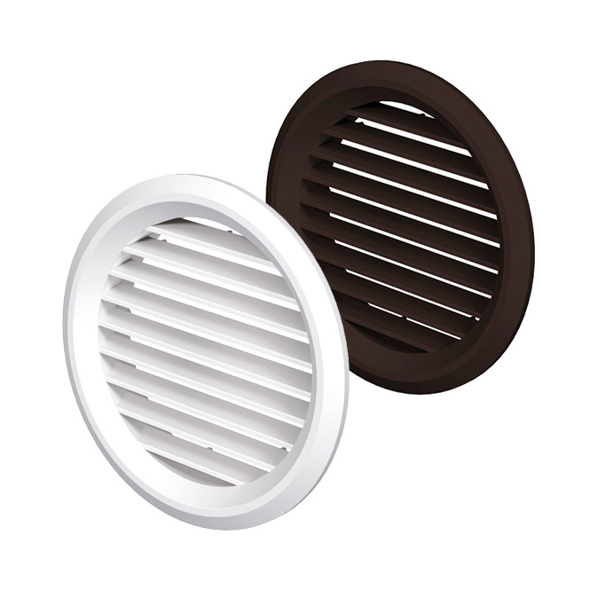 PVC Ventilation Grille Round with Integrated Insect Screen (MV-bV-series)