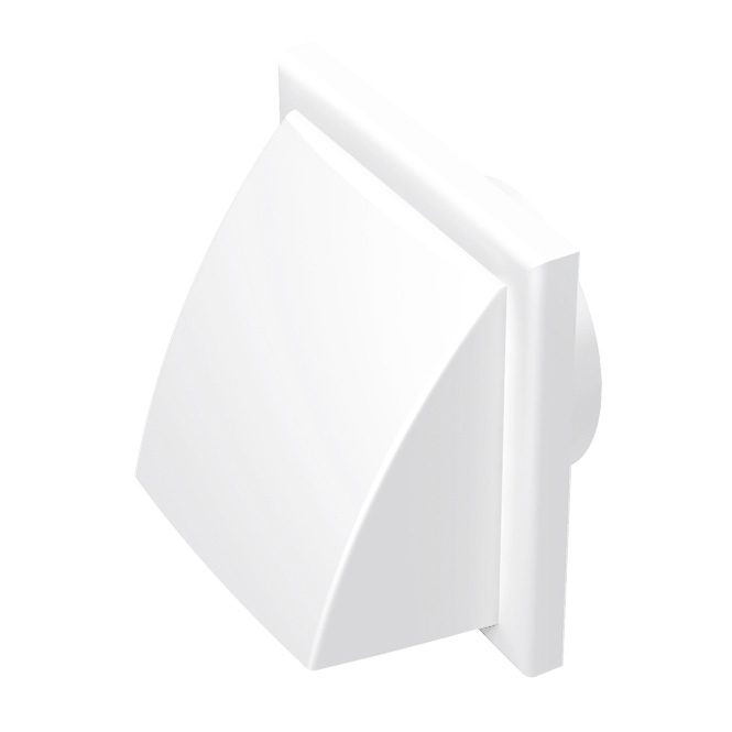 PVC Abluftklappe mit Rückschlagklappe (MV-K-Serie)